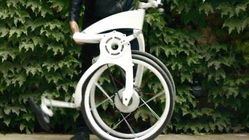 自行车能根据喜好设定?国外的这辆自行车,能折叠还能用手机控制