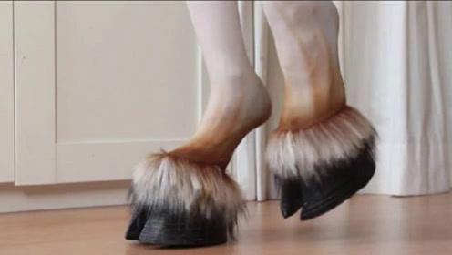 日本奇葩马蹄高跟鞋,受到女性疯狂抢购,网友:谜之时尚