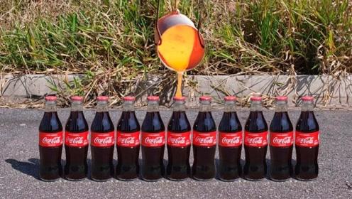 老外将1000度熔铜液倒进可乐里,接下来的一幕太火爆了!