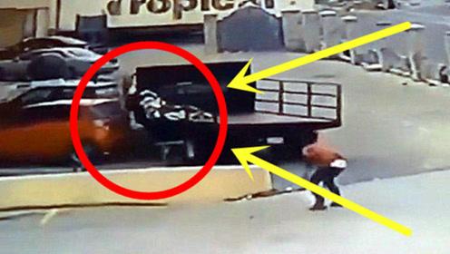 男子被自己的车压死,监控视频曝光,整个过程让人匪夷所思!