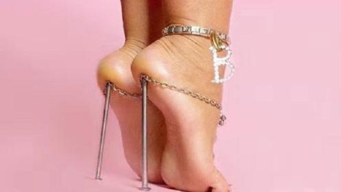 盘点全球最奇葩的6种高跟鞋,看着就脚疼,你能接受几双?