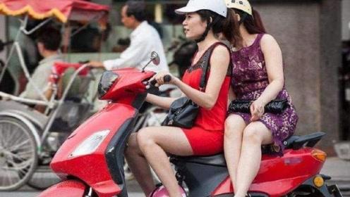 为什么女生坐摩托车是侧着坐?知情人说出实情!
