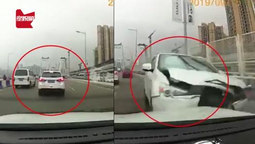 因车行慢遭后车强行别车,一脚油门酿事故:开斗气没有赢家