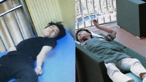 王俊凯到底有多累?洗碗吹头发干啥都能秒睡着