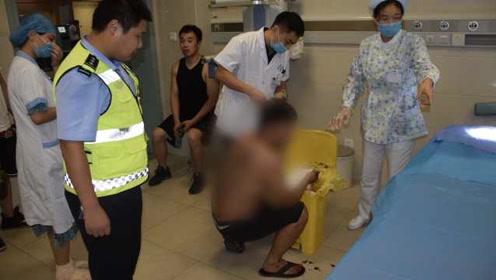 男子做饭时误割手上血管,警车连闯3个红灯紧急送医