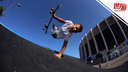 10岁男孩不幸失去双腿 练就一身滑板绝技成网红