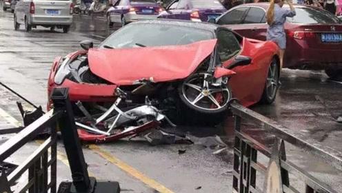 小伙租法拉利带女友兜风,半路撞车保险公司还不负责,这下尴尬了