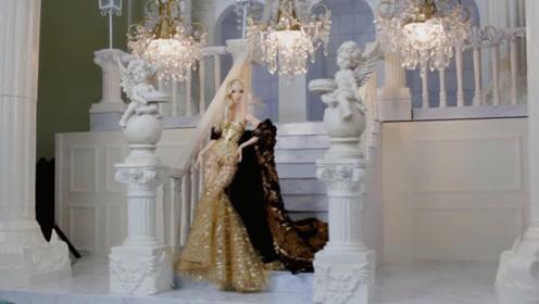世界上最美的芭比娃娃,男子斥巨资打造,衣服配饰都是真金白银!