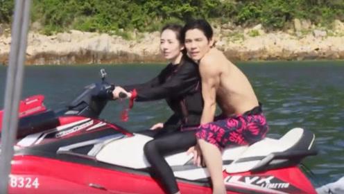 为何向佐郭碧婷开游艇只拍近景,当镜头切到全身时,网友笑出猪叫