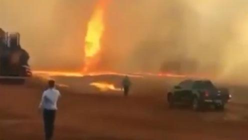 """地球的肺在呐喊!巴西惊现诡异""""火龙卷"""",核心温度超1000℃"""
