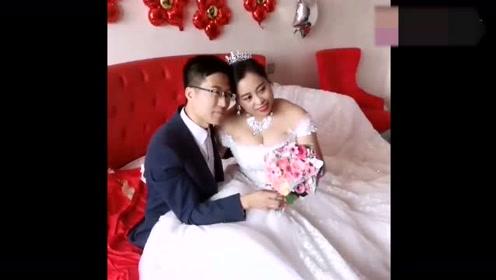 婚礼上拍到的一幕,看到新娘的那一刻,我承认我羡慕了!