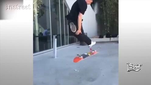 这个滑板那动作太有风格了,看着很舒服