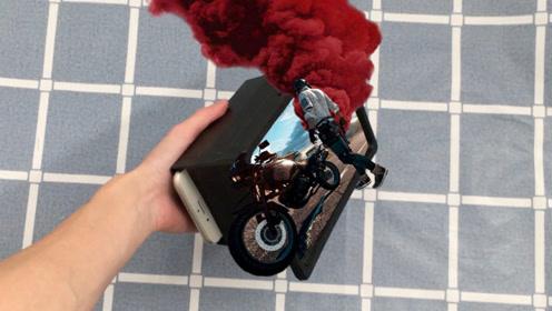 199的3D投影仪开箱,装上手机那一刻我呆了:吃鸡还能这么玩