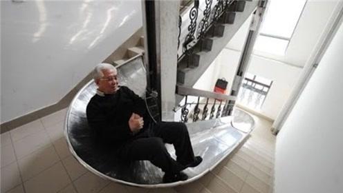 中国大爷造火灾逃生滑梯,30层楼只需90秒,已获国家专利