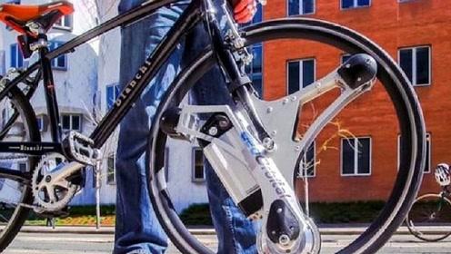 外国牛人发明神奇装置居然让自行车,秒变电动车,续航48公里