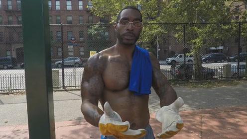 42岁大叔是街健高手,每天在公园里强身健体,他认为身体最重要