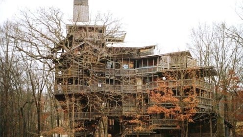 世界上最高大的树屋:高度有10层楼高,耗时建造者11年心血!