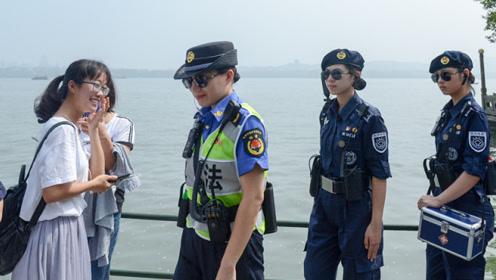 西湖女子巡逻队美翻了游客!今年她们还用上了5G和VR新技术