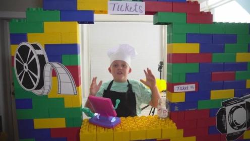用乐高积木堆成的城堡,孩子玩的不亦乐乎,值得借鉴