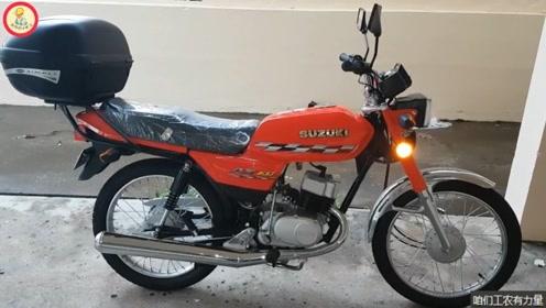 这不是库存车,而是在国外还在生产的铃木二冲程摩托车,真是经典