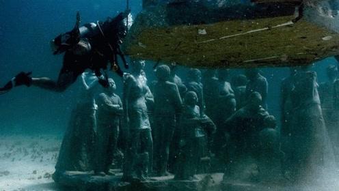 """国外海底发现""""兵马俑"""" 伫立海底数百年被国家重点保护"""