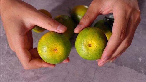 橘子应季上市,老果农教我一个挑橘子的方法,一挑一个准,真实用