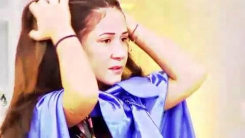 美女模特上电视综艺节目 结果长发意外被剪当场哭晕