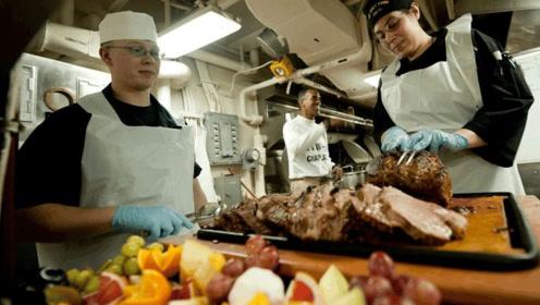世界航母美食比拼,中国的看了流口水,美国的奢华,印度的不一般