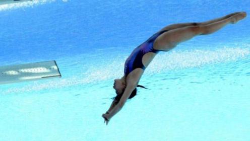 跳水史上最优雅的0分:郭晶晶罕见失误,没动作也是0水花入水