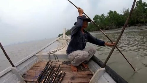 把树枝插到河里就能捕到鱼?男子靠这方法,养活了一大家子