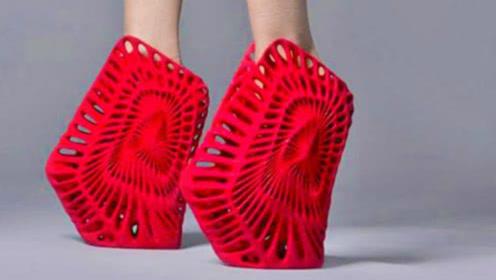 """世界上最""""奇葩""""的5双高跟鞋!反向鬼才设计,穿上后增高40CM"""