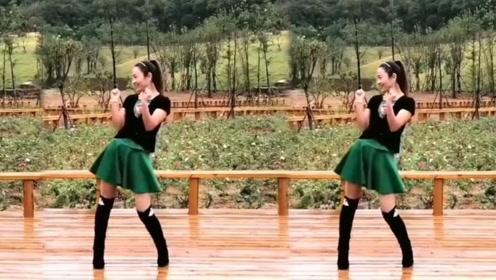 确山燕子广场舞《酒醉的蝴蝶》单人唯美水兵舞教学
