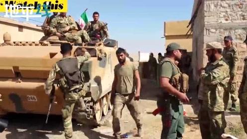土耳其支持的武装力量与库尔德武装交火 枪声此起彼伏