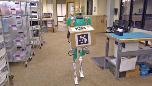 美国新版本双足机器人送快递测试,感觉送快递的以后要失业了