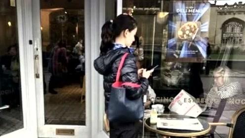 奶茶妹妹章泽天现身英国街头 素颜出镜显孤独
