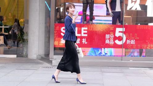 秋天穿着半身裙,搭配高跟鞋,什么款式的更好看一些呢?