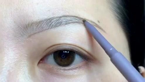 弯月眉这样画,很好看的眉形,喜欢就试试吧