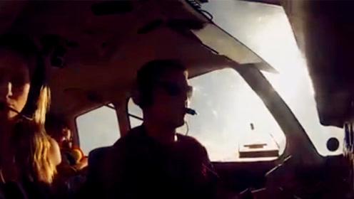 惊险!男子携妻儿驾飞机突遇故障冷静迫降成功