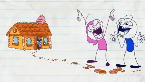 """铅笔人遭遇""""邪恶""""女巫,被骗到家中后,女巫却哭了?"""