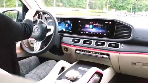2020款奔驰GLS450到货,打开氛围灯后开上路,我忘记了宝马X7!