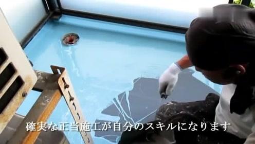 日本楼顶做防水,材料施工方法我们都没见过
