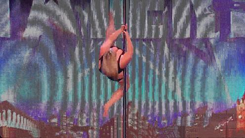 三百多斤的钢管舞女郎,跳起来瞬间评委都傻眼了,太灵活了吧?