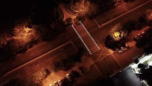 南京会发光的斑马线海外圈粉,市民:像走星光大道