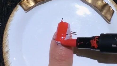 水彩笔也能做美甲,没有什么异味还不用烤灯超方便