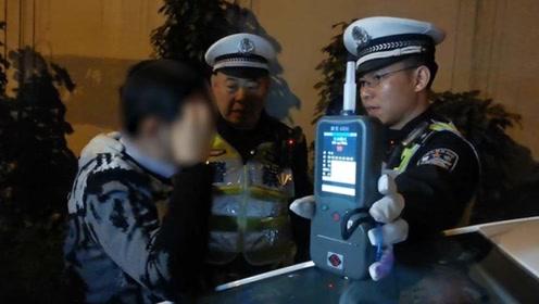 """北京警方一晚查获45名""""酒司机"""" 一醉驾司机还想弃车逃跑"""