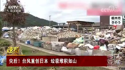 灾后!台风重创日本 垃圾堆积如山