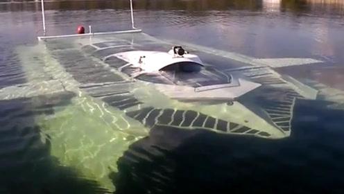老外造可潜水的游艇,能在水上水下任意切换形态,专为土豪打造