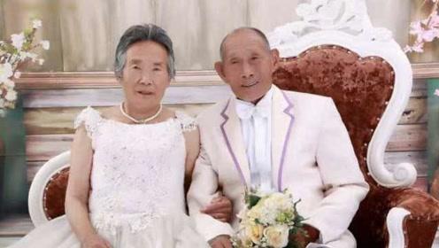 神仙爱情!80旬白金婚夫妻补拍婚纱照:结婚70年不吵架