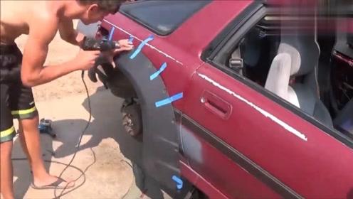 牛人的汽车翻新,全程高能,这动手能力确实强悍