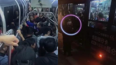 解气!男子公交车上猥亵女大学生 车上乘客合力将其制服交给警察